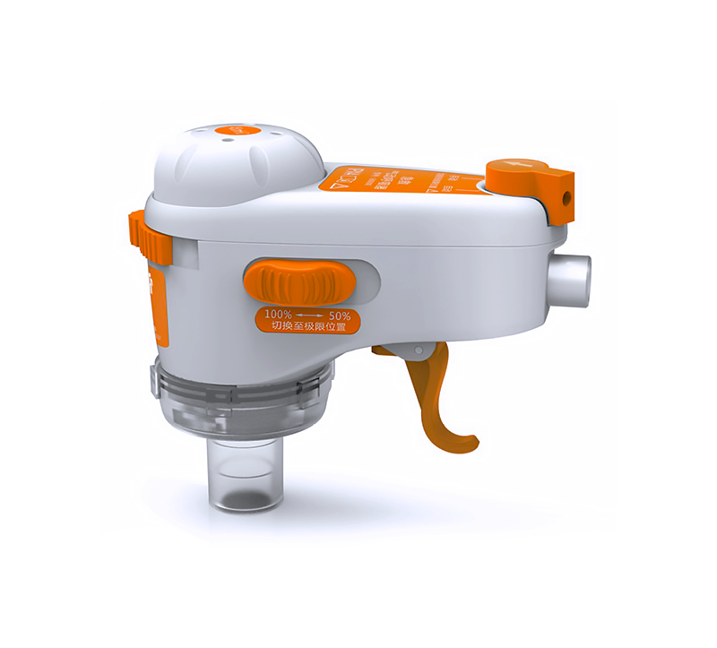 The 6000E is an easily used pneumatic resuscitation device that is small, compact, and weighs roughly 300 g only. It is also gas-controlled, with built-in anti-backflow valve, and has air breathing auxiliary sensor for a variety of toxic environment.