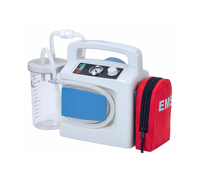 Designed to be used as a portable suction device, the SA02PB suction is ideally used in ambulances, emergency services, polyclinics, and home care. The unit is fast charging and can be used even during the charging process.