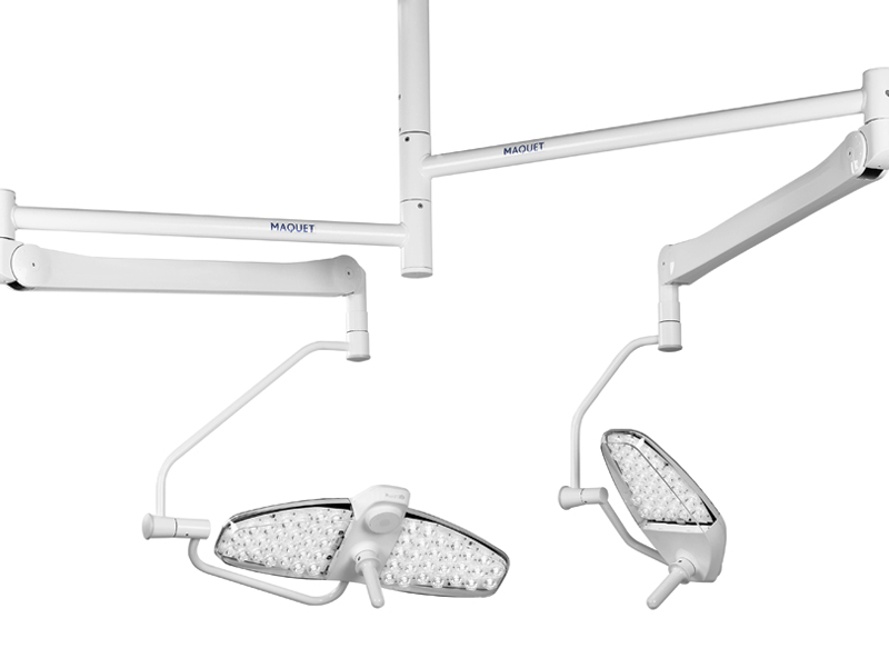 The innovative design combined with a functional shape suffices the needs of all users, Maquet Lucea 50 & 100 are available in mobile, wall and ceiling-mounted versions as well as a battery-operated version. Designed for minor surgery, Maquet Lucea 50 & 100 models provide high quality illumination through LED technology without any compromises on the major enhancements.