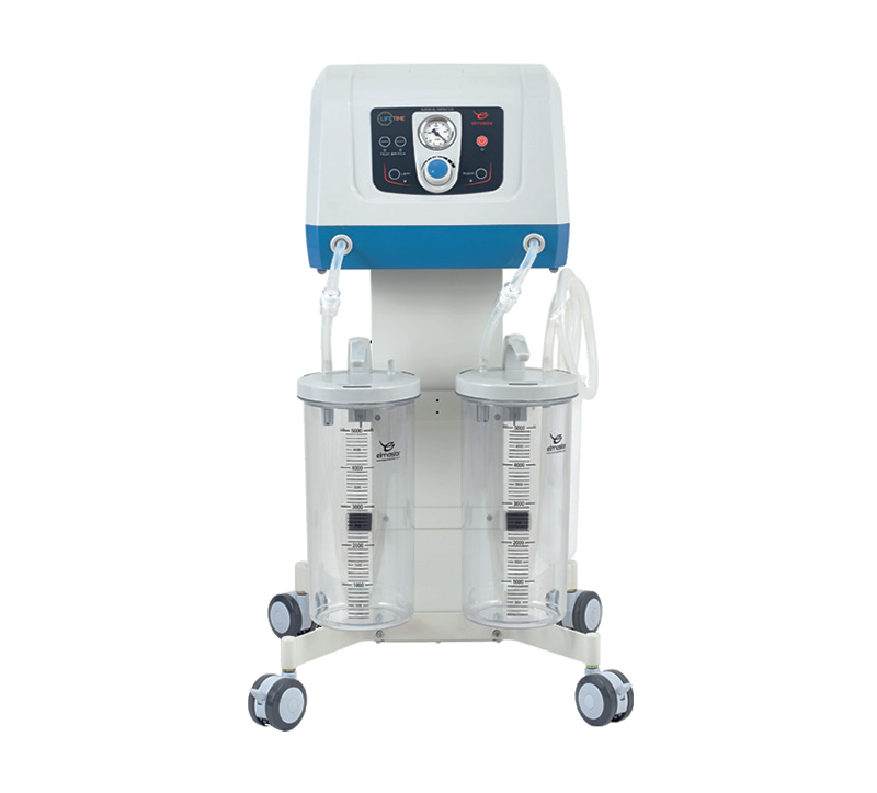 Designed to be used in operating rooms and theaters, this heavy-duty suction machine is capable of aspiration of accumulated liquids and fluids in the operated resign of the patient, ideally for Gynecology and Dermatology (liposuction). This comes with electronically controlled foot pedal and two high capacity (5L) reusable accumulation jars that are autoclavable.