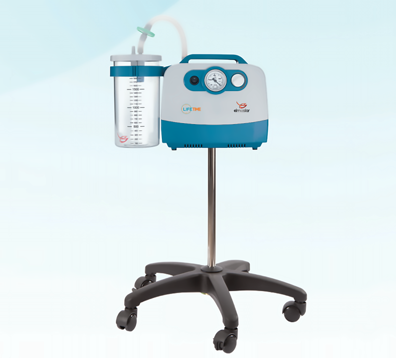 Designed to be used in wards, polyclinics, inpatient services, and even homecare, this suction machine is capable of aspiration of accumulated liquids and fluids in the resign of the patient. This comes with electronically controlled foot pedal and one high capacity (2L) reusable accumulation jar that is autoclavable.