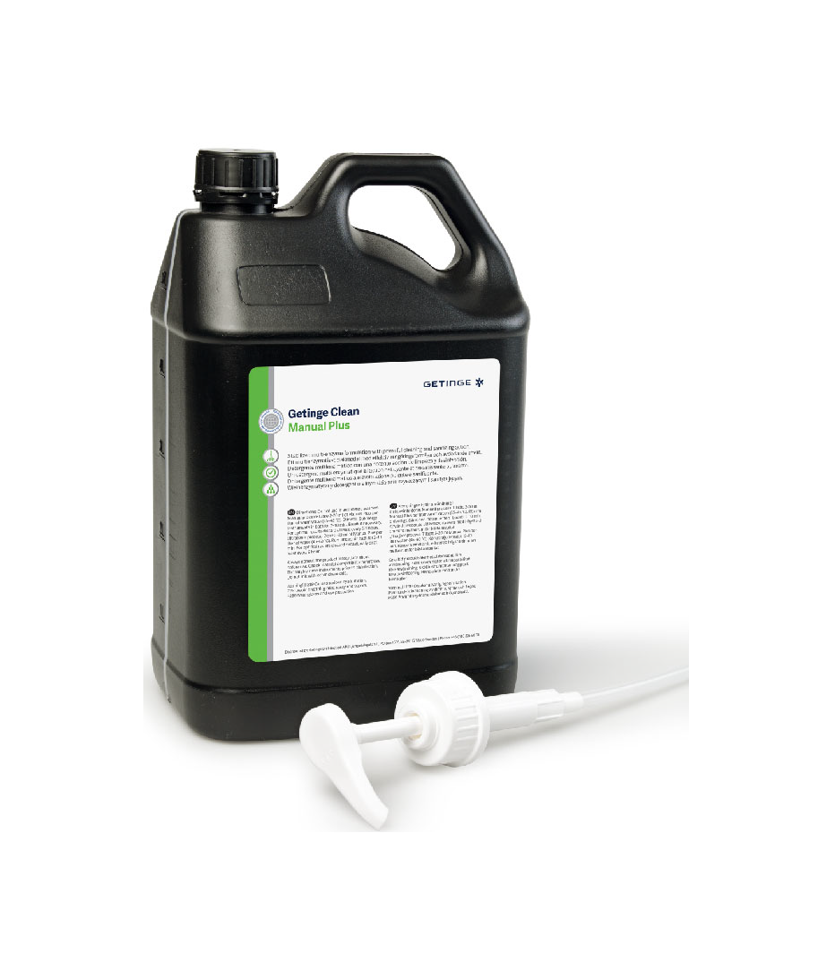 Getinge Clean Manual Plus Enzymatic Detergent is a fully biodegradable multi-enzymatic detergent with powerful sanitizing action suitable for manual and ultrasonic cleaning of medical instruments.