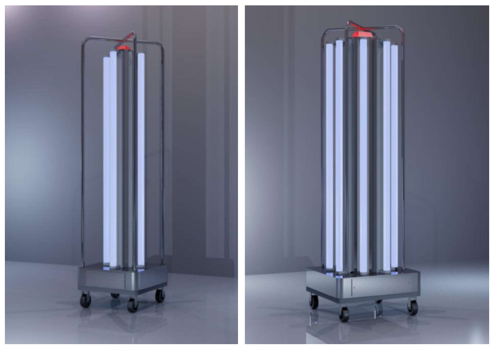 Sanitaire Mobile Ultraviolet Air Room Sterilizer is proudly locally assembled using high quality imported materials. This product is capable of sterilizing a given room via ultraviolet radiation.